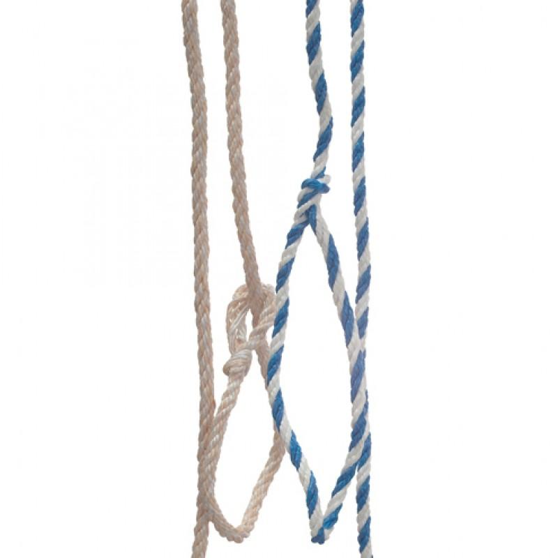 Koekoord - jute/pp, blauw/wit
