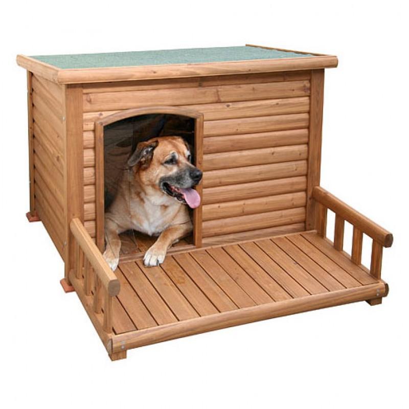 Niche pour chien 113x81x83cm avec terrasse 105x51x28cm
