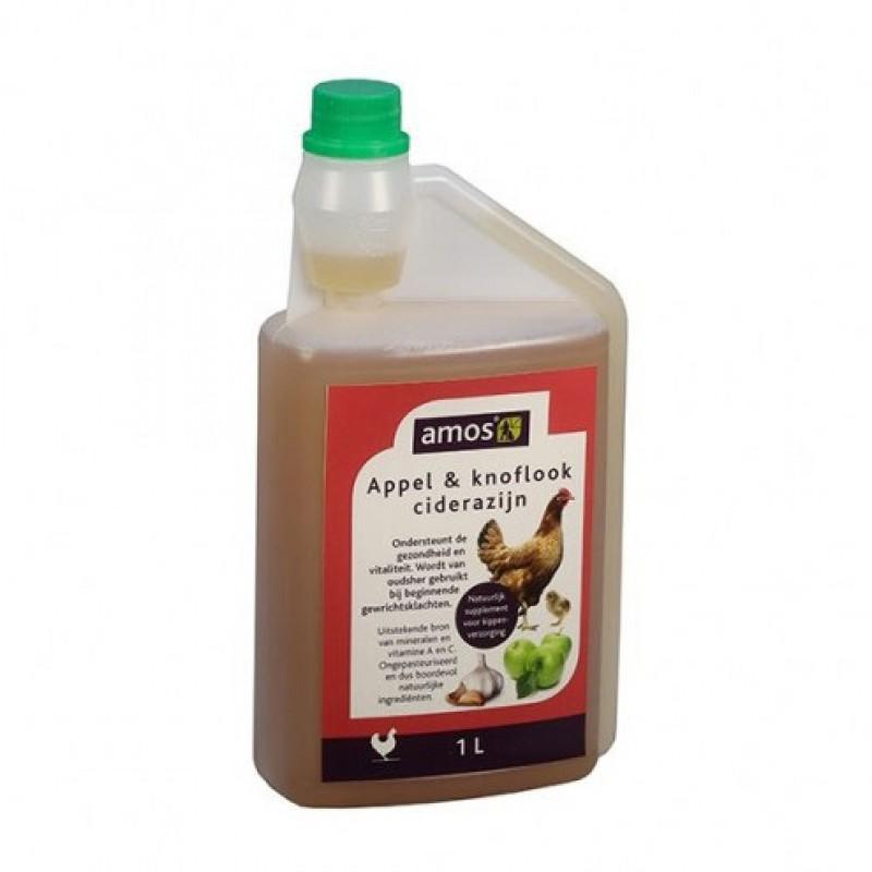 Appelcider Azijn met knoflook 1L Amos