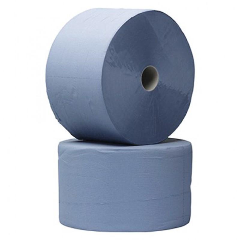 Uierpapier 'Premium' blauw 3-laags, per 2 rollen