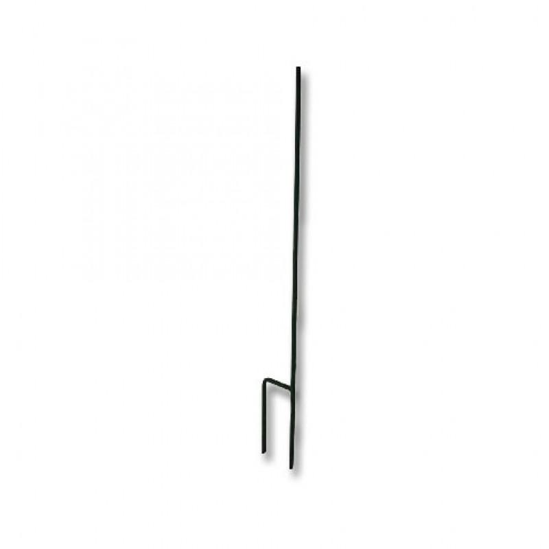 Stalen rantsoenpaal met 1 isolatorsteun, 12 mm - 120cm LAATSTE STUKS