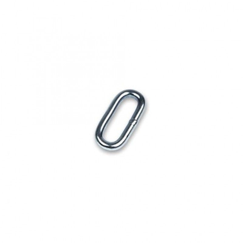 Metalen ovale schakel voor halsriemen 40mm, verzinkt
