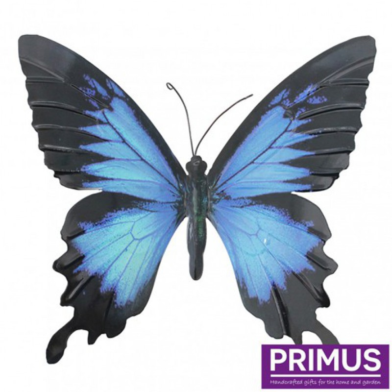 Large metal butterfly Blue & Black Primus