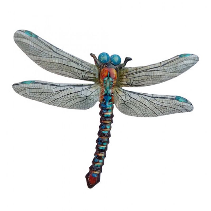 Grote metalen Libelle Blauw Primus