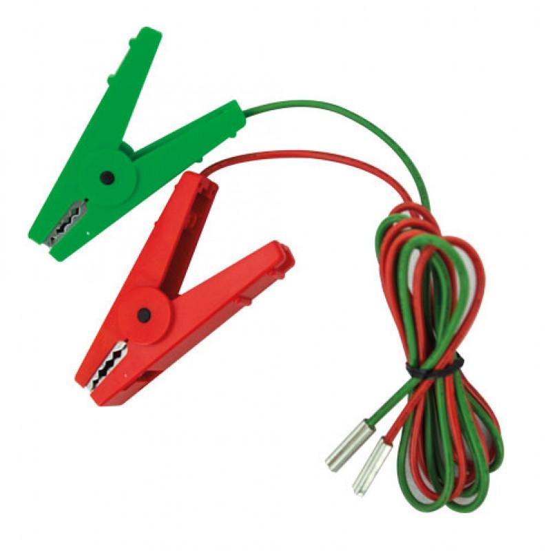 Kabelset met krokodilbekklemmen rood en groen Speedrite