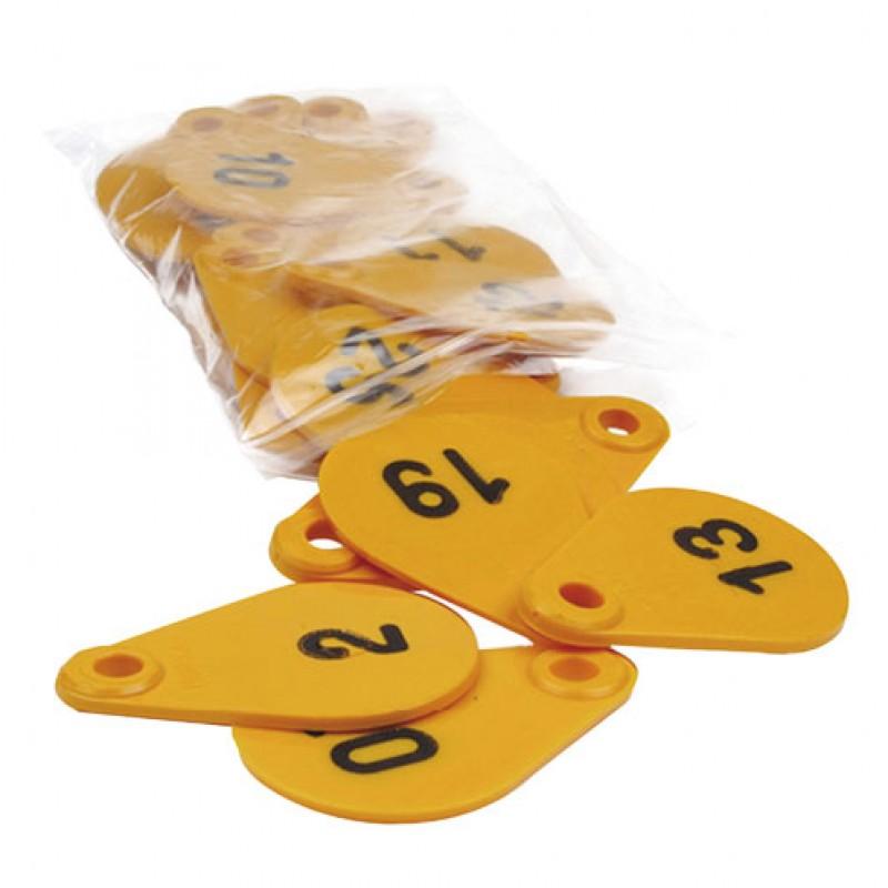Nummerplaatje flexi 2-zijdig genummerd, serie 1-25