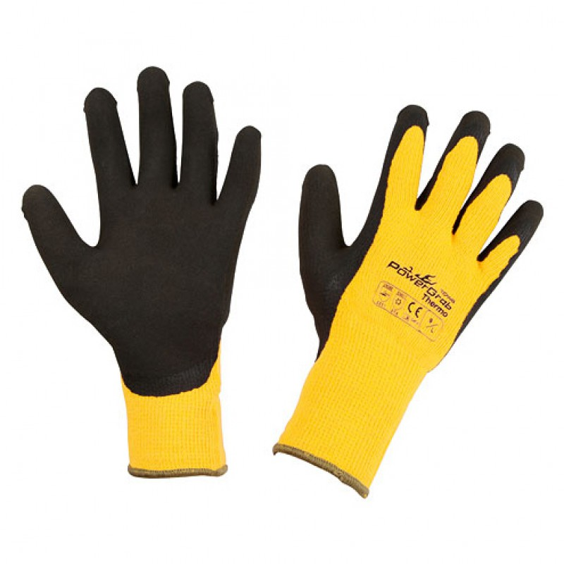 Handschoenen 'PowerGrab Thermo' Geel