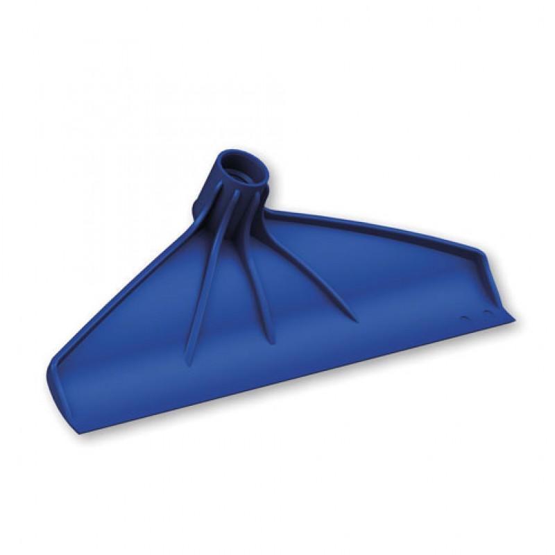 Mestkrabber met schroefdraad kunststof blauw 38cm, zonder steel
