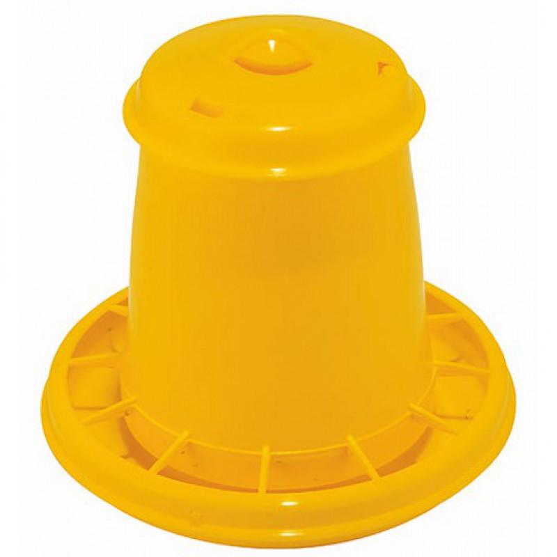 Voederautomaat kunststof geel 2,5L/1,5kg