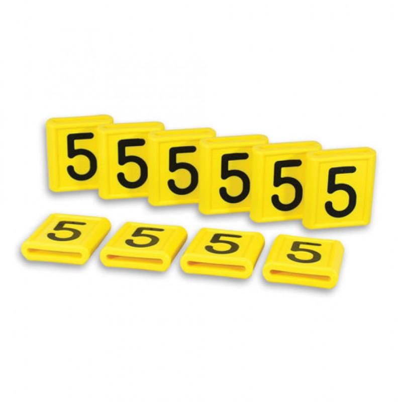 Nummerblokje 52x59mm voor halsmarkering, per 10 stuks