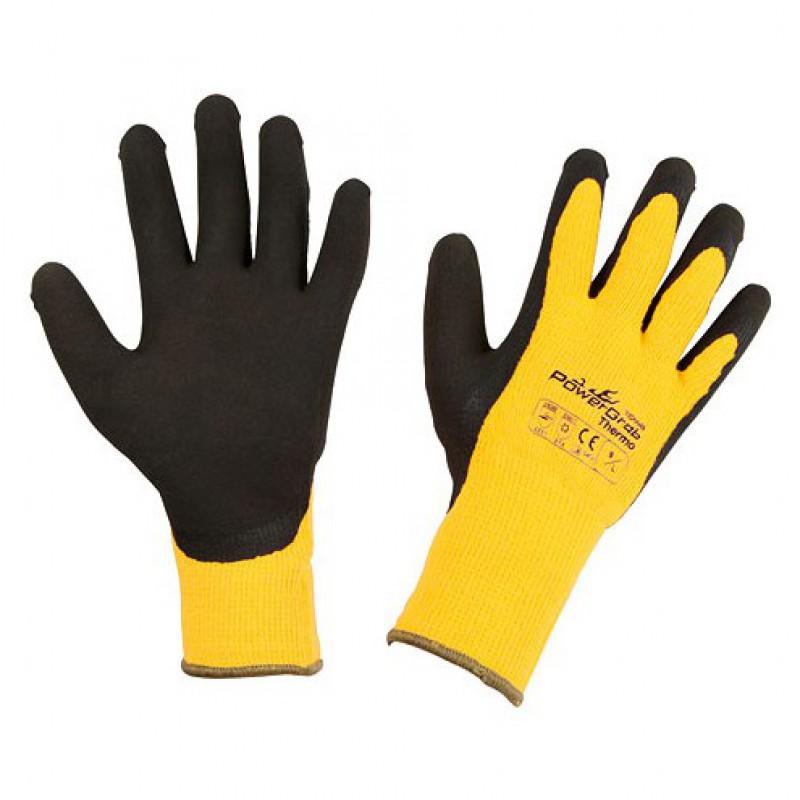 Handschoenen 'Powergrab' geel - mt 9/L
