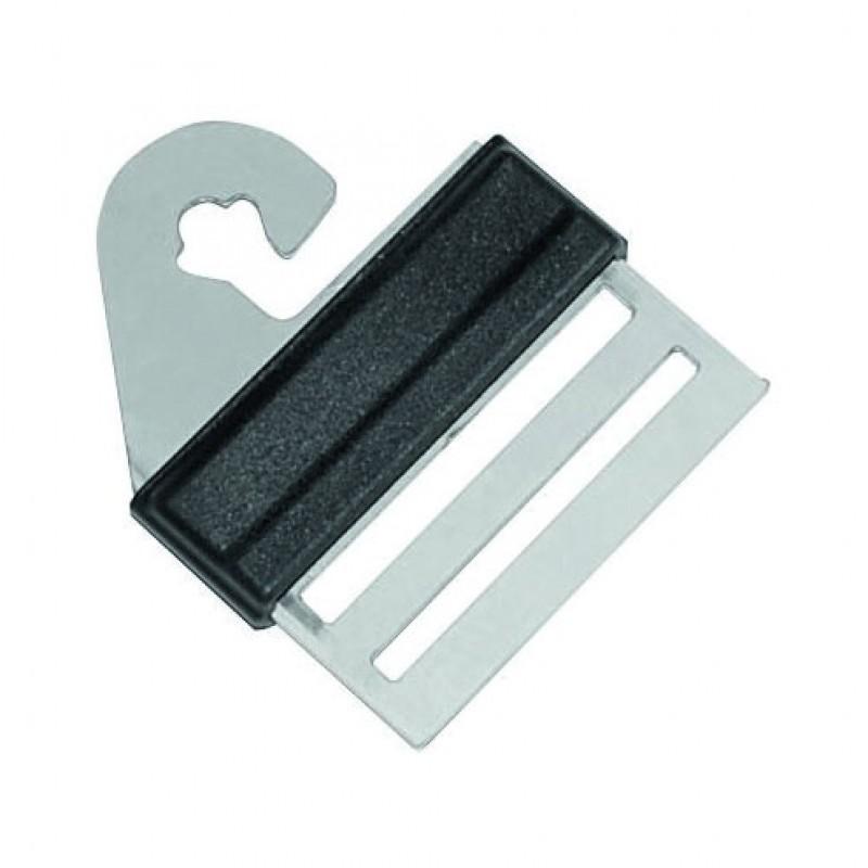 Bevestigingsklem voor lint 4cm aan poort of poortgreepanker, blister 4 stuks, Litzclip