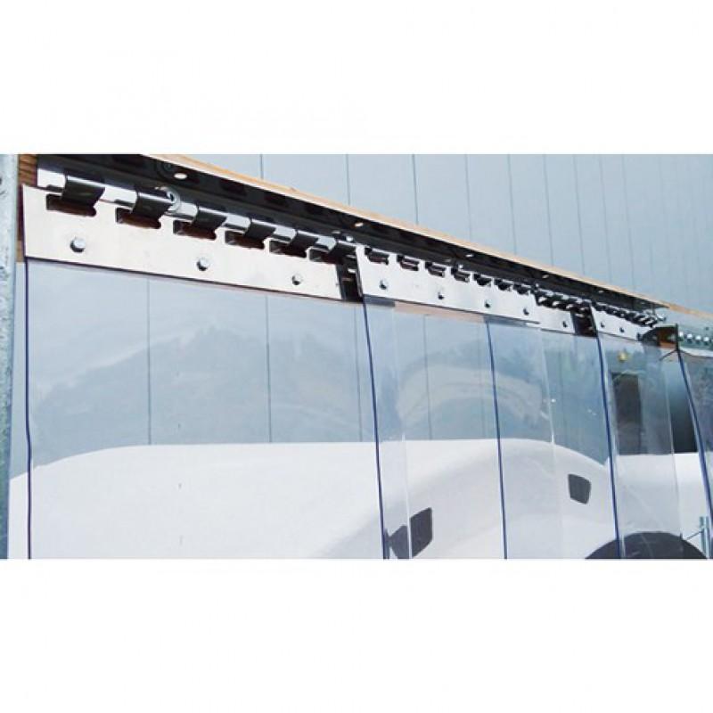 PVC gordijnstrips 200 x 2mm transparant, rol 50 meter