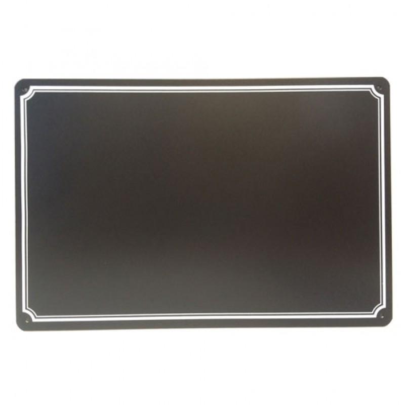 Alu stalbord 'met rand' neutraal zwart