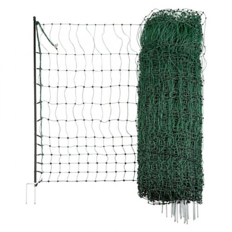 AKO 112/2 groen afrasteringsnet voor pluimvee, elektrificeerbaar 25m