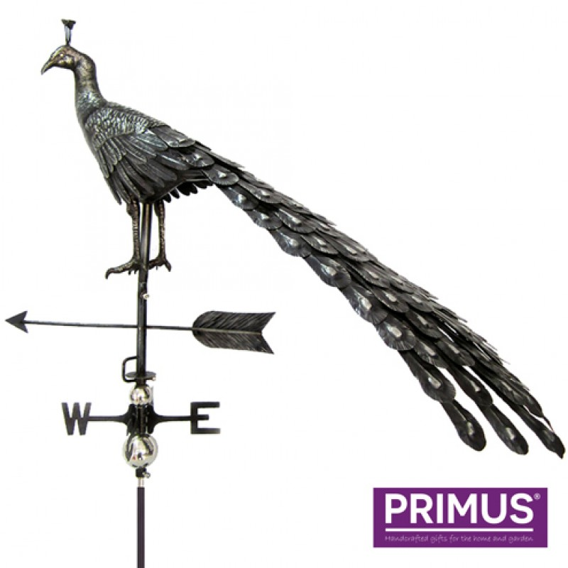 3D Peacock weathervane with garden stake Primus