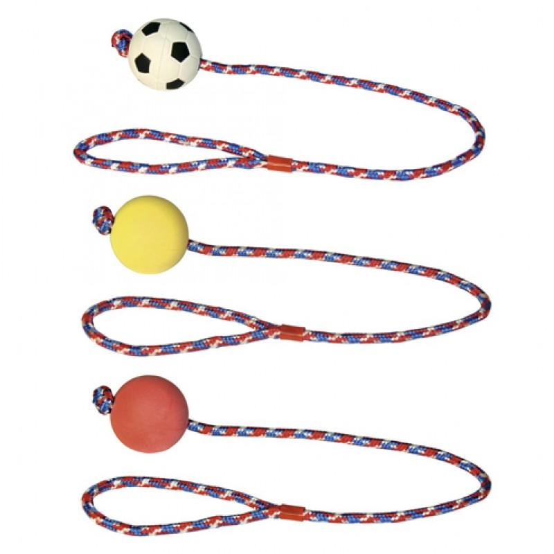 Schuimrubber bal aan touw