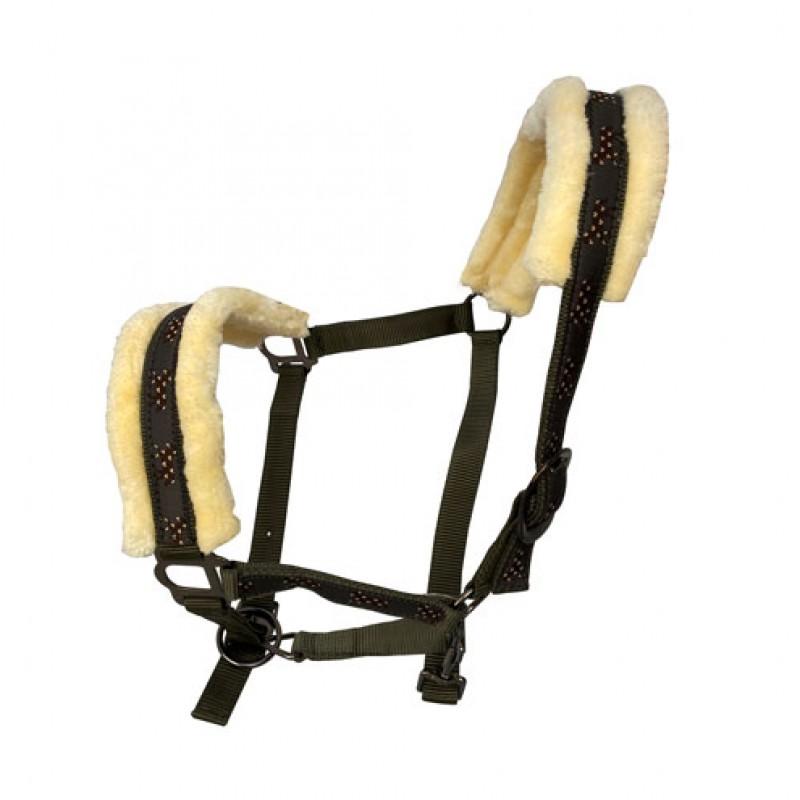 Halster  'Comfort' nylon gevoerd met imitatie wol