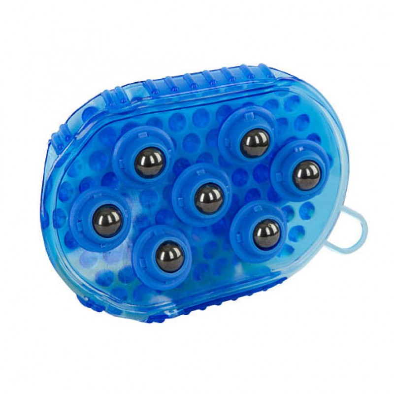 Massageborstel magnetisch blauw