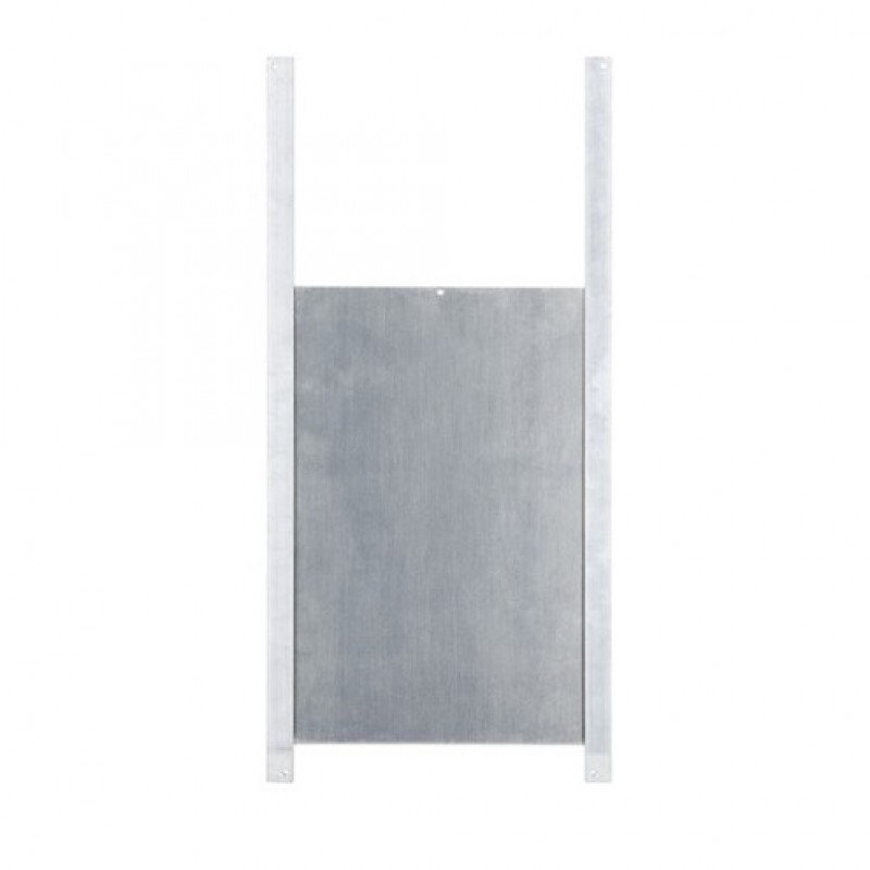 Aluminium kippendeur met rails 220 x 330 mm