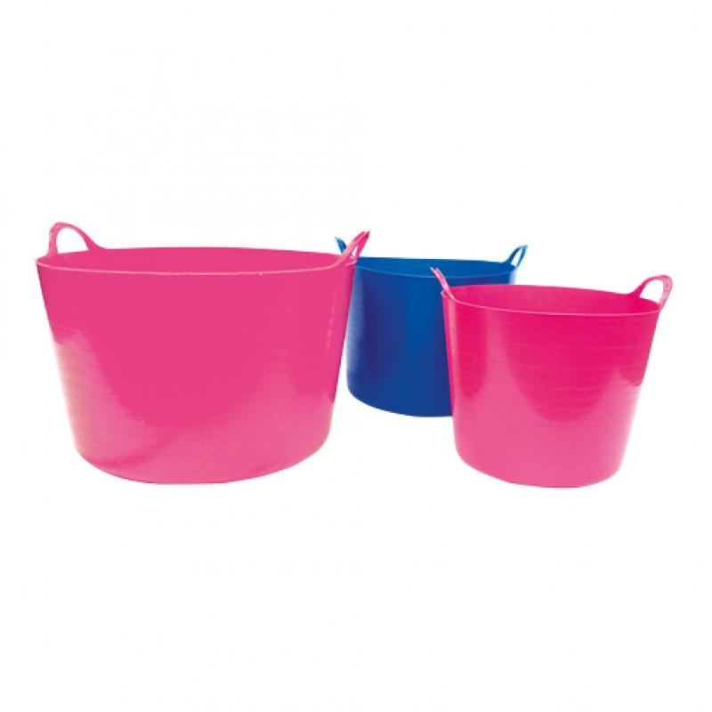 Flexibele kuip 26 liter roze Fynalite