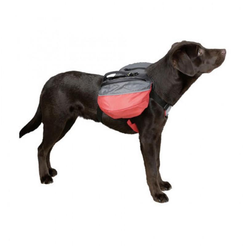 Rugzak voor hond M rood/antraciet
