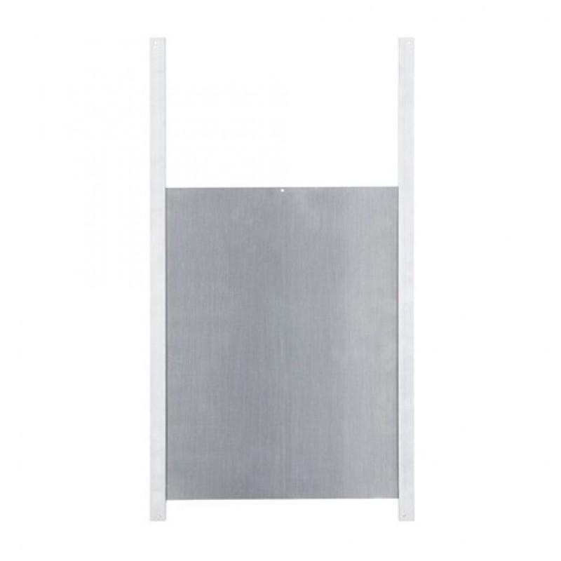 Aluminium kippendeur met rails 300 x 400 mm