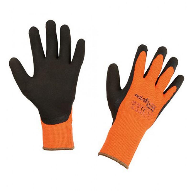 Handschoenen 'Powergrab' oranje – mt 7/S