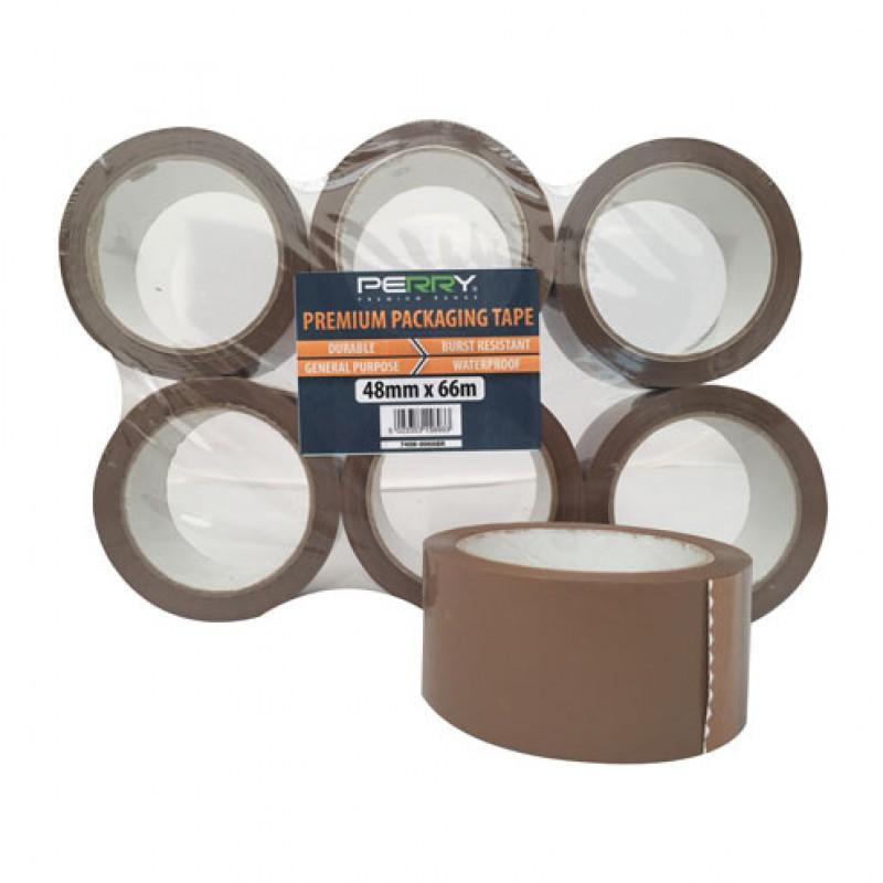 Premium PP Packaging Tape 48mm x 66m, bruin Perry