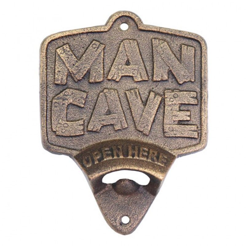Cast Iron Man Cave Wall Mounted Bottle Opener Primus