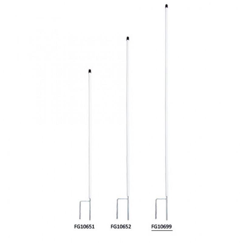 Kunststof rantsoenpaal 19 mm x 150 cm met dubbele pen