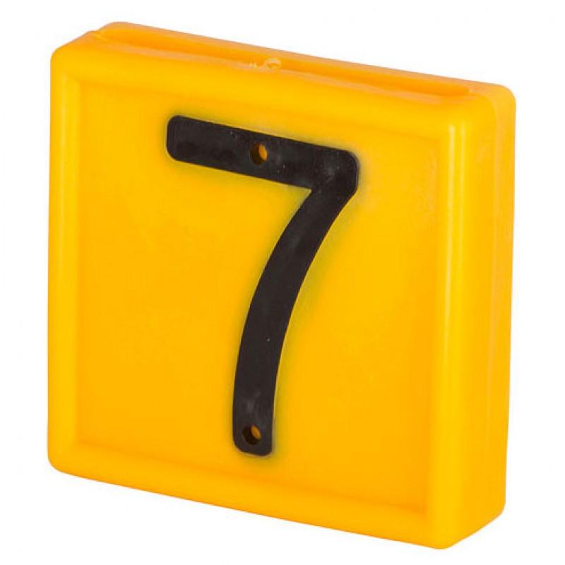 Nummerblokje 48x46mm voor halsmarkering '7'
