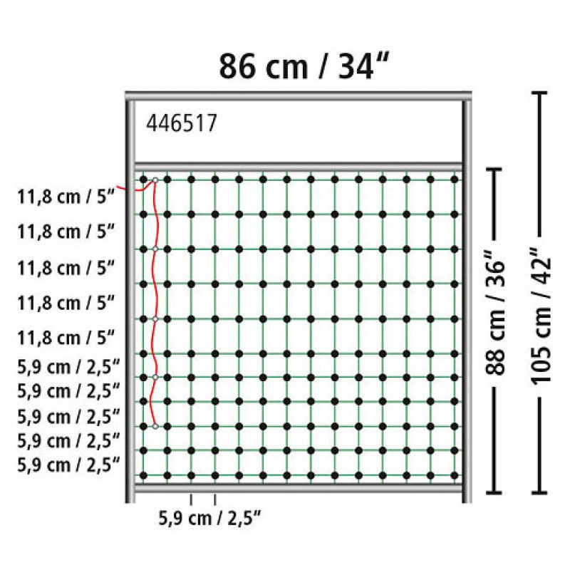 Poortje voor afrasteringsnet 105cm