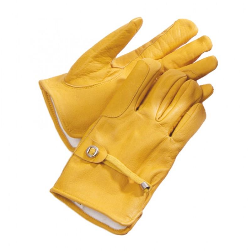 Lederen handschoenen 'Western' met fleece gevoerd