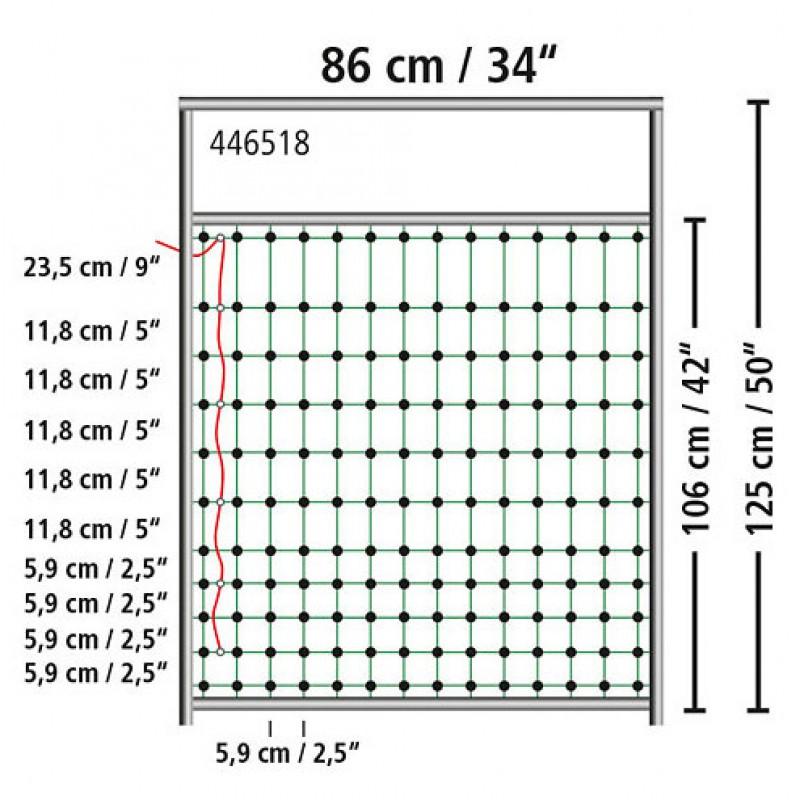 Poortje voor afrasteringsnet 125cm