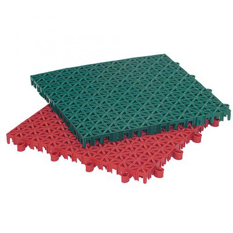 Kunststof tegels roestbruin