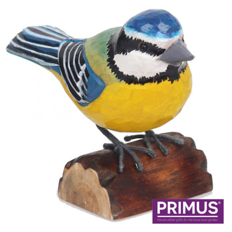 RSPB Hand Carved Wooden Blue Tit Primus