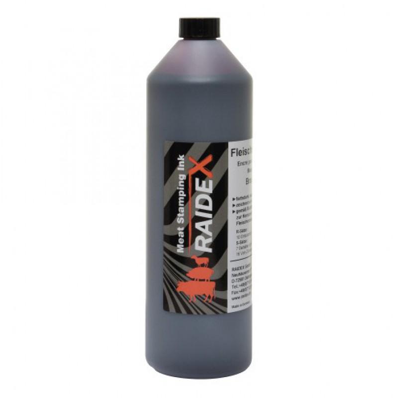 Vleesstempelverf Raidex bruin 1 L