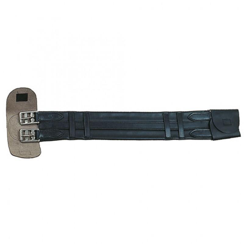 Dressuursingel Leder 55-75 cm
