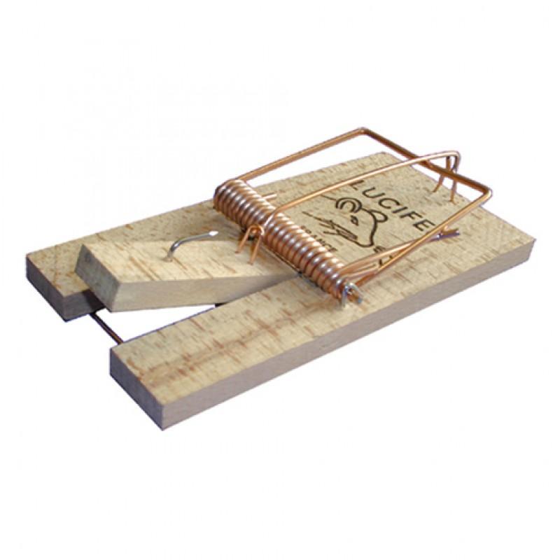 Muizenval houten plankje, blister 2 stuks