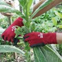 Handschoenen 'Soft N Care Landscape' rood – mt 8/M
